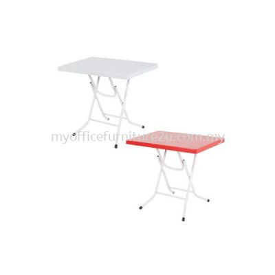 PKS Rectangular Plastic Folding Table 600 x 900 mm (White)