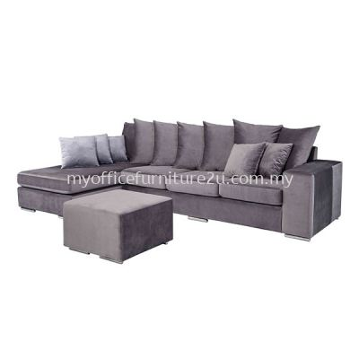 IS1008L Three Seater and Stool L Shape Sofa (Fabric)