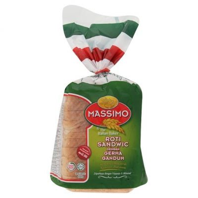 Massimo Sandwich Loaf with Wheat Germ (400 gm)