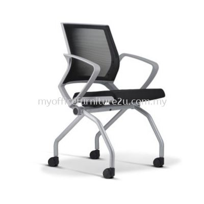 ST9114-LG01 Training Folding Chair with Armrest Light Grey
