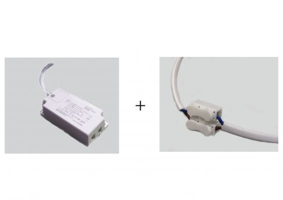 LED Distributor Box (12v6w,2-way) with 100mm Wire and Quick Connector