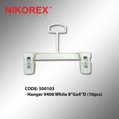 500103 - Hanger 9408 White 8��Gx4��D (10pcs)