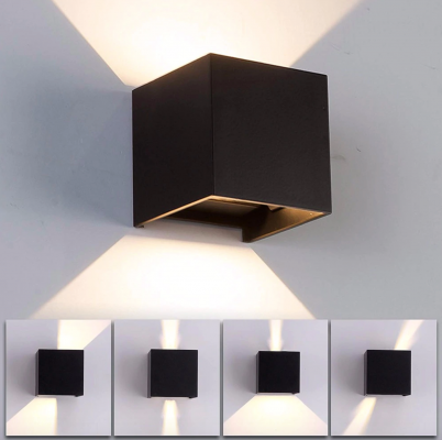 Square Outdoor Wall Light (Black)