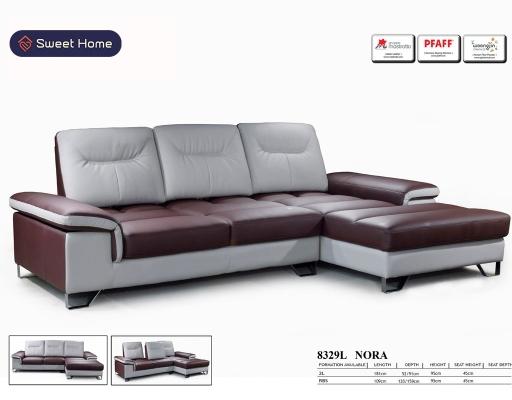 Half Leather comfort L-Shape sofa Penang