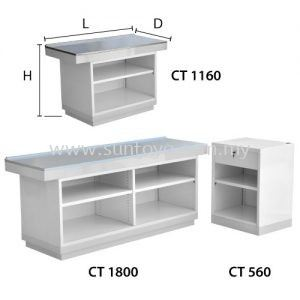 Stainless Steel Top Cashier Counter