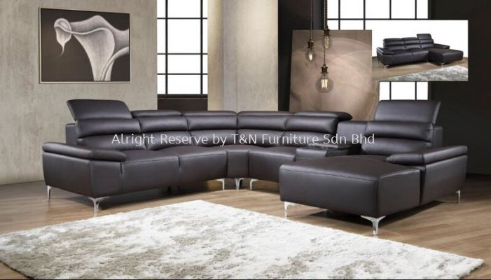 3200CR Bavencio H-Leather Corner Sofa Set