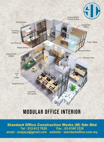 Modular office Interior renovation and furniture