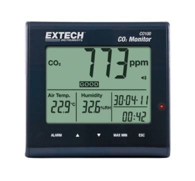 EXTECH CO100 Desktop Indoor Air Quality CO2