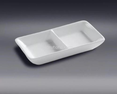 """LGT6X275 6*2.75"""" 2 COMPARTMENT PLATE"""