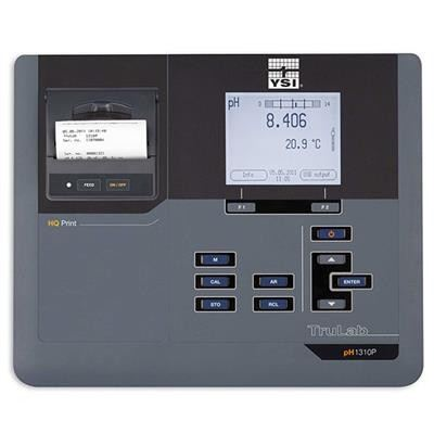 YSI TruLab pH 1310P Single Channel pH and mV (ORP) Benchtop Instrument with Integrated Printer