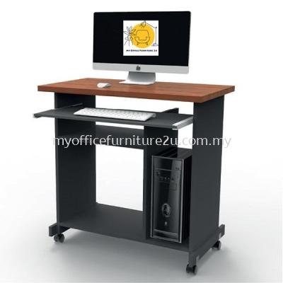 CT62 Computer Table 800W x 450D x 750H mm (Cherry + Dark Grey)