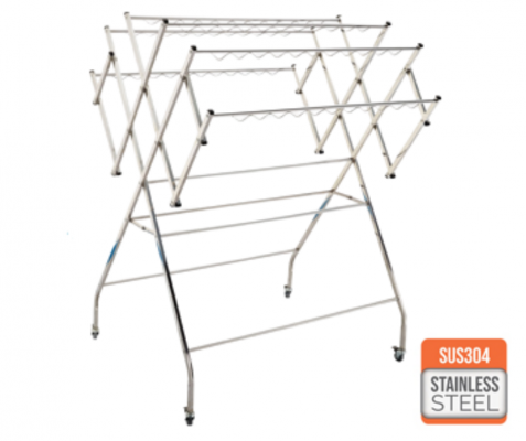 SINOR SS304 Cloth Rack (W) +Whlees