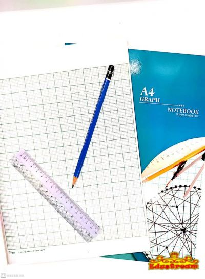 Uni A4 Graph Notebook 80 Pages