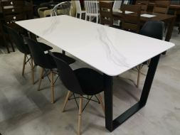 Dinning Table marble pattern permeating sanctuary
