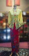 黄色薄纱绣花娘惹歌�Q雅 Size S Nyonya Kebaya Embroidery (Floral Motif) - Yellow Kebaya Series Nyonya Series