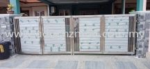 Local 304 Stainless Steel Folding Gate  Stainless Steel Gate With Aluminium Panel