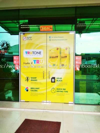 Ik Yellow Glasa sticker at Kuala Lumpur