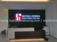 Seong Henng 3D LED channel box up letttering at rawang Kuala Lumpur