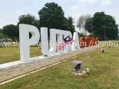 Putra sepang aluminum giant big 3d lettering signage at sepang Kuala Lumpur
