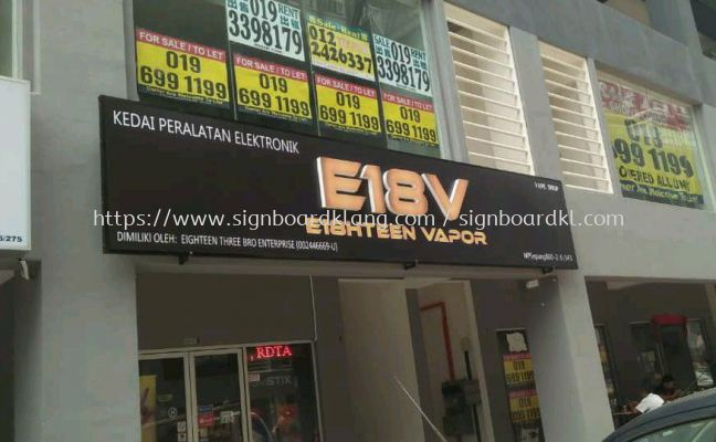 E18V 3D led conceal box up lettering signage signboard at shah alam