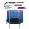 "PJ-JD-75  55"" Trampoline With Net Enclosure Trampoline"