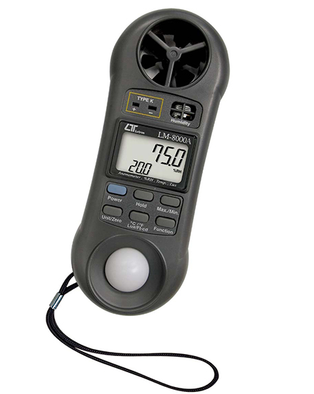 LUTRON LM8000A 4 in 1, Anemometer + Humidity meter + Light meter + Thermometer