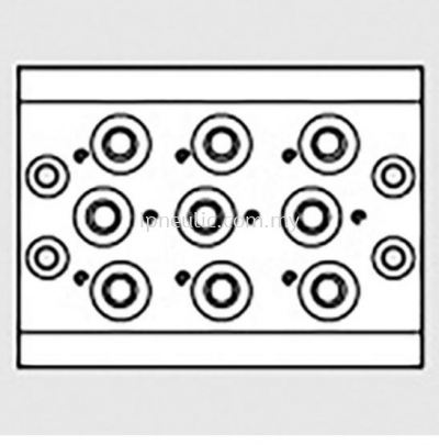 """ACCESSORIES FOR SERIES 70-- 10 POS. MULTIPLE BASE 70 PNV-SOV 1/4"""""""