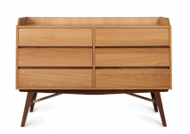 DUALTONE 6 DRAWER DRESSER