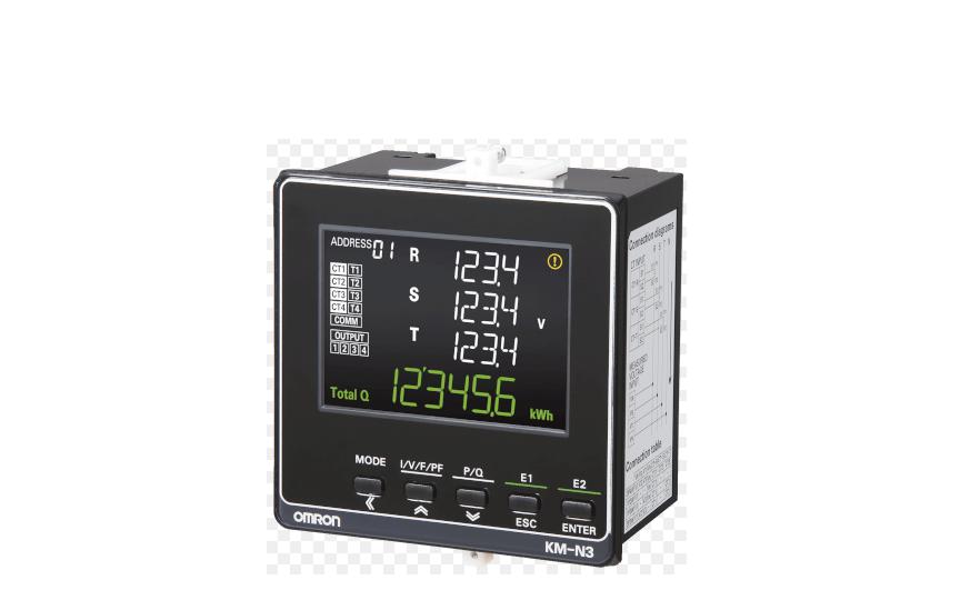 Omron KM-N3-FLK Global Power Monitor for On-panel Installation