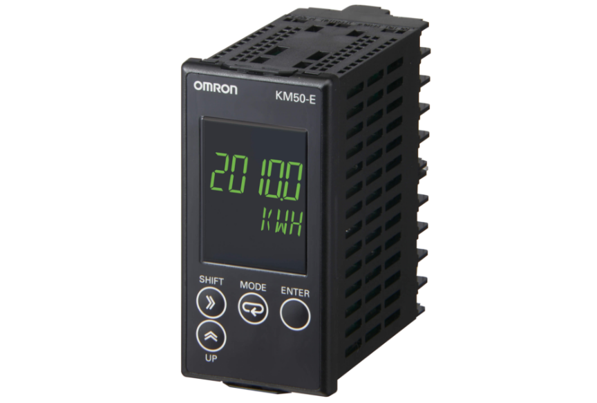 Omron KM50-E Power and current can be measured simultaneously. Measurement of generated power (regenerativ