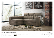 Zelux L-Shape Sofa (Brown)