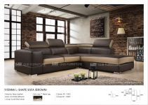 Vienna L-Shape Sofa (Leather)