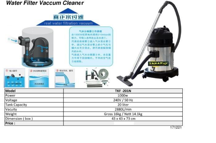 Water Filter Vaccum Cleaner Vacuum Cleaner Cleaning Machinery