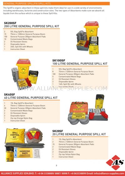 General Purpose Spillfix Spill Kits