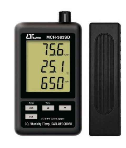 LUTRON MCH-383SD CO2/Humidity/Temp. Data Recorder + SD Card real time data recorder
