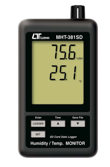 LUTRON MHT-381SD Humidity/Temp. Data Recorder + SD Card real time data recorder