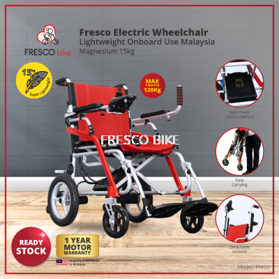 Fresco Electric Wheelchair Lightweight Onboard Use Malaysia Magnesium 15kg