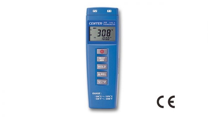 CENTER 308 DUAL INPUT THERMOMETER