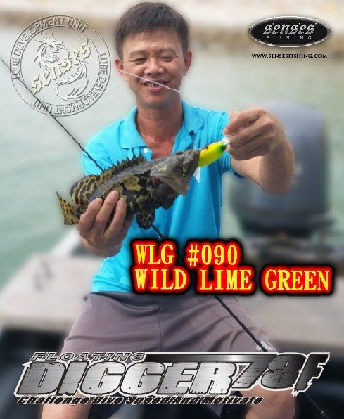 DIGGER 78MM FLOATING - WILD LIME GREEN - 21G