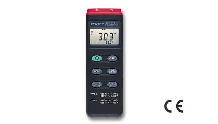 CENTER 303 DUAL PROBE THERMOMETER J TYPE)