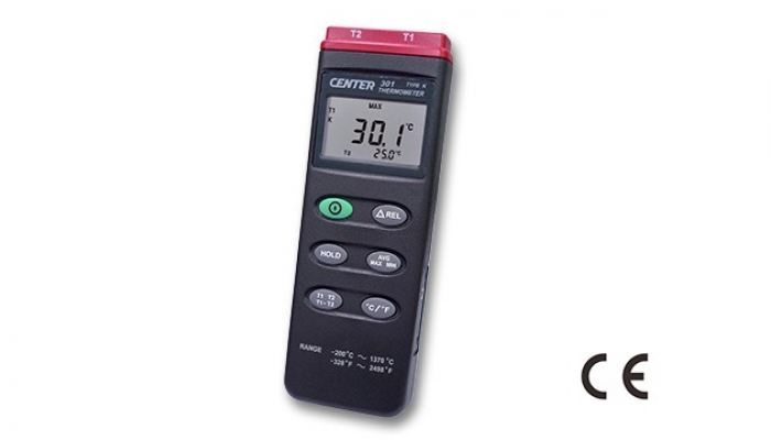 CENTER 301 DUAL PROBE THERMOMETER (K TYPE)