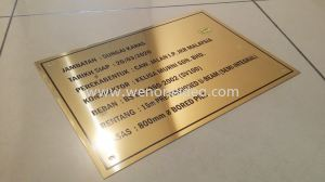 Gold SS Plate Etching