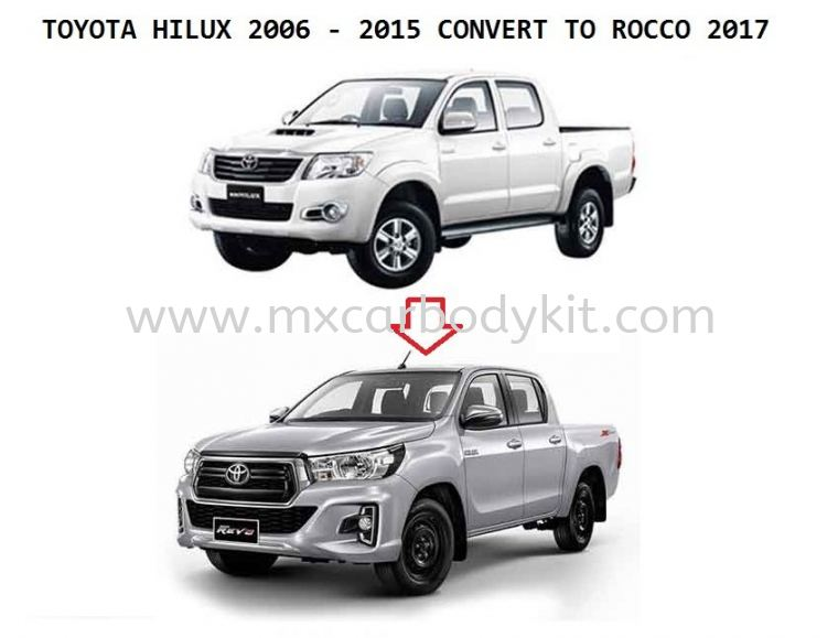 TOYOTA HILUX VIGO CONVERSION TO ROCCO 2017 FACELIFT HILUX 2011 - 2015  TOYOTA