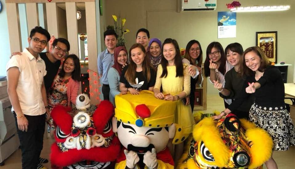 Chinese New Year Lion Dance Celebration at the office