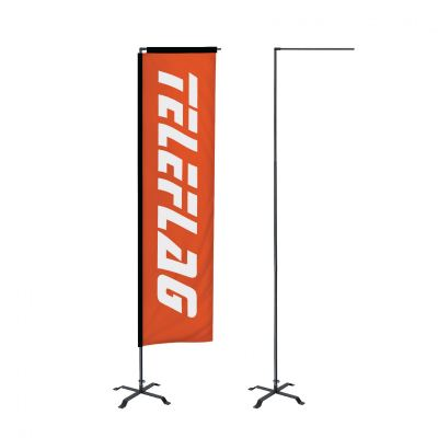 FT3 3meter teleflag banner with cross bass