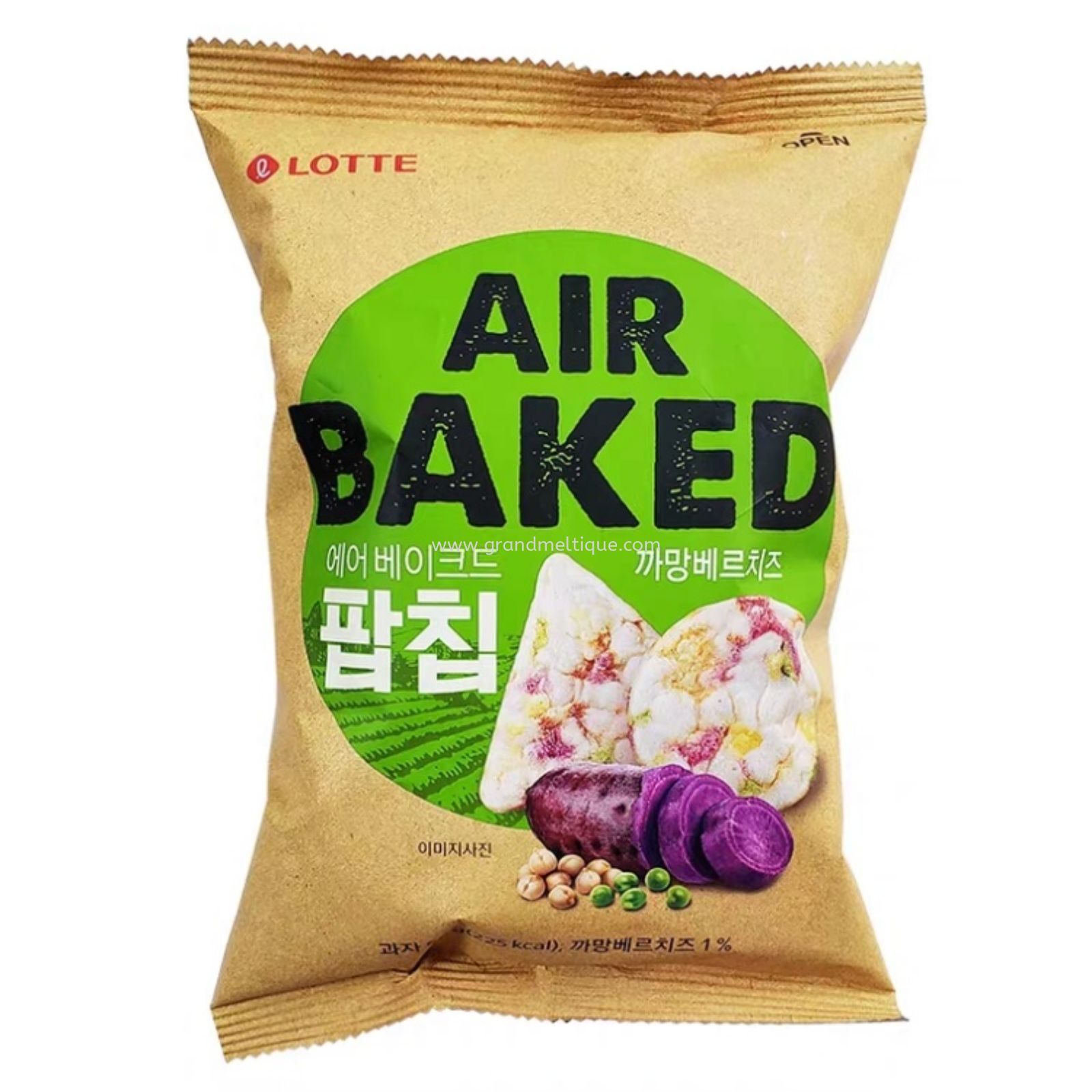 LOTTE AIR BAKED POP CHIP BAKED POTATO 乐天紫薯味非油炸米片65G