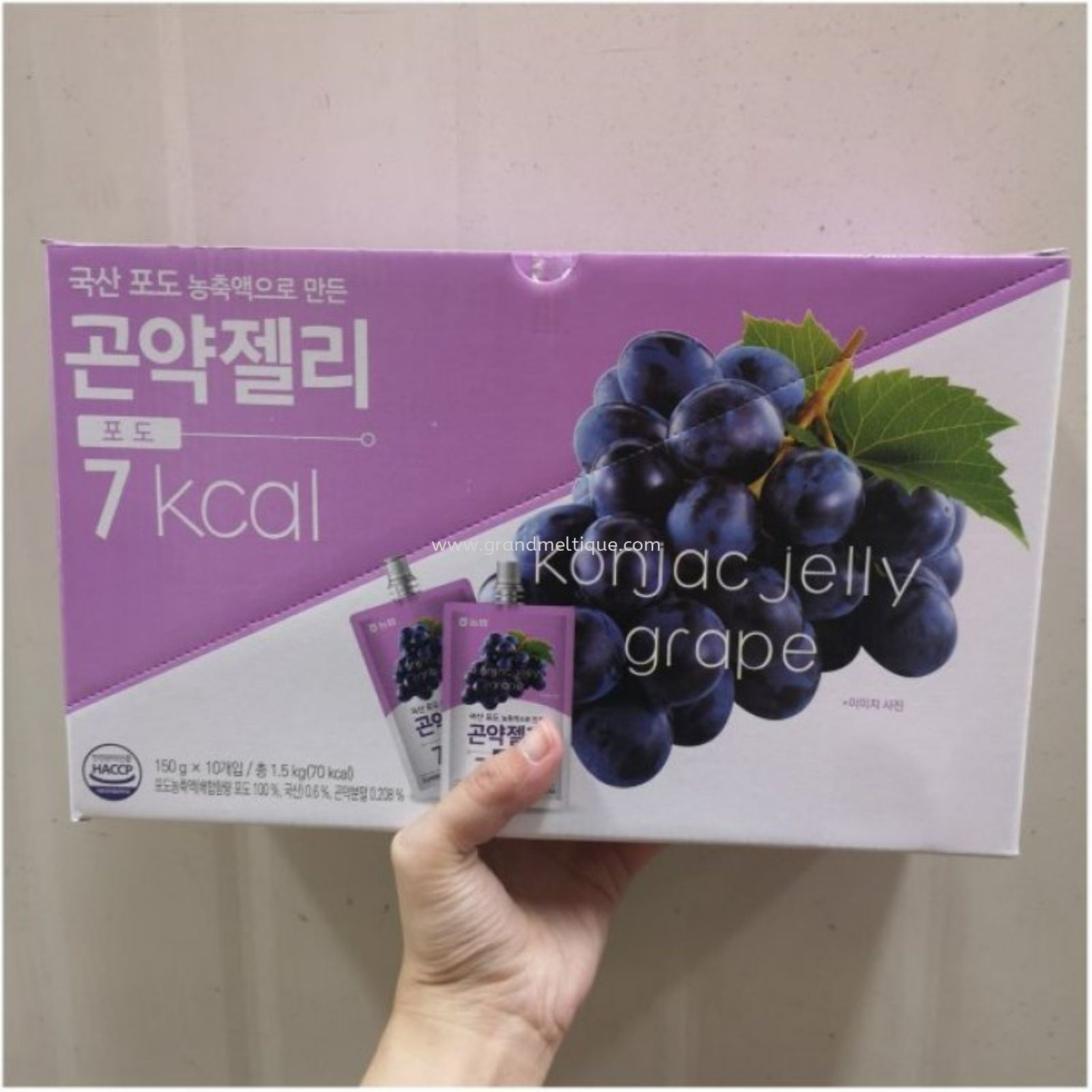 NONGHYUP KONJAC JELLY GRAPE 农业葡萄 150G X 10 PER 3 OUTER