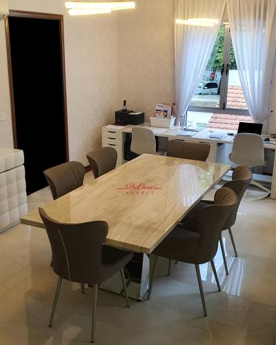 Luxury Beige Dining Table | Nuvalato | 8 Seaters
