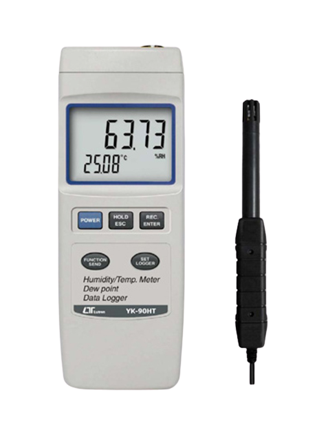 LUTRON YK-90HT Humidity Meter, data logger, RS-232