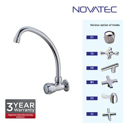 Novatec Kitchen Chrome Plated Wall Sink Tap F9-1151